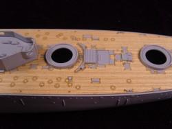 Holzdeck für 1:350 HMS Dreadnought - Zvezda 9039