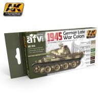 1945 Farbset Wehrmacht späte Fahrzeuge (6 Acryl-Farben)