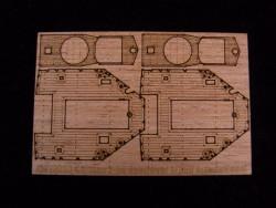 Holzdeck für 1:350 DKM Zerstörer Z-38 - Dragon 1049 - 1:350