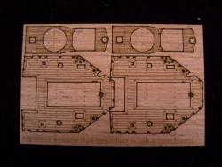 Holzdeck für 1:350 DKM Zerstörer Z-39 - Dragon 1037 - 1:350