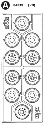 A Parts (A1-A3) for Tamiya 56002, 56003, 36207, 36208