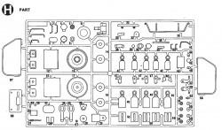 H Parts (H1-H58) for Tamiya 56002, 56003, 36207, 36208