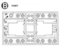 B Teile (B1-B9) für Tamiya 56002, 56003, 36207, 36208
