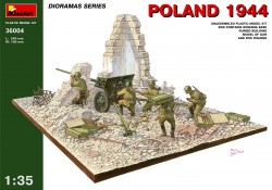 Poland 1944 - with russian Anti-Tank Gun and Figures - 1/35