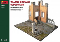 Village Diorama with Fountain - 1/35
