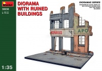 Diorama with ruined german Buildings - 1/35