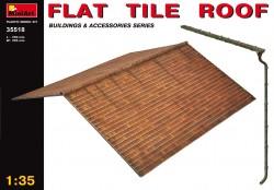 Flachziegel Dach - 1:35