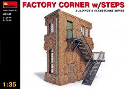 Factory Corner with Steps / Stair - 1/35