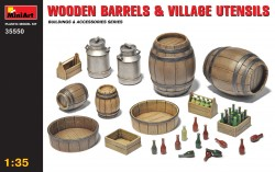 Wooden Barrels & Village Utensils - 1/35