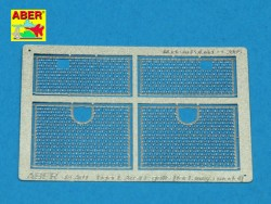 Photo-Etched Engine Grills for 1/48 Tiger I - Tamiya