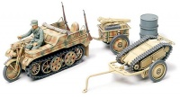 Kettenkrad with Infantry-Cart - & Goliath Vehicle - 1/48