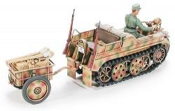 Sd.Kfz.2 Kettenkrad mit Infanterie Anhänger und Sd.Kfz. 302 Goliath - 1:48
