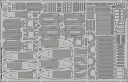 Photo-Etched Parts Lifeboats for 1/200 DKM Bismarck  - Trumpeter 03702 - 1/200
