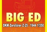 Big Ed Fotoätzteile Set für 1:350 DKM Zerstörer Z-25 - Trumpeter 05321