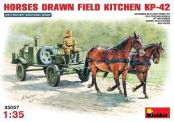 Sowjetische Feldküche KP-42 - Pferdegespann - 1:35