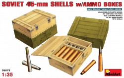 Soviet 45mm Ammo Shells with Boxes - 1/35