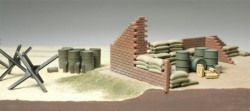 Brick Wall, Sand Bag and Barricade Set - 1/48