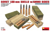Sowjetische 100mm Munition mit Munitionskisten