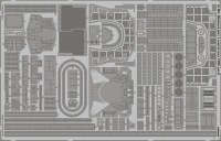 Photo-Etched Parts - Midship Area for 1/200 DKM Bismarck  - Trumpeter - 1/200