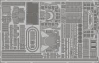 Fotoätzteile Mittschiffs-Bereich für 1:200 DKM Bismarck - Trumpeter - 1:200