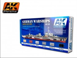 German Warships - Acrylic Paint Set (6 acrylic colours)