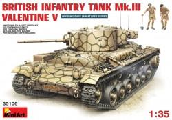 British Infantry Tank Mk. III Valentine Mk. V with Crew