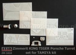 Zimmerit für Tamiya Königstiger mit Porsche Turm