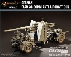 German 88mm FlaK 36 - Anti Aircraft Gun - 1/18