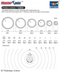 Plastik Kreise und Ringe - Set A