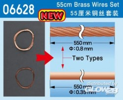 55 cm Brass Wire Set - two types - 1 pc. each