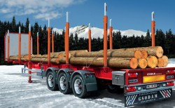 3-Axle Timber Trailer - 1/24