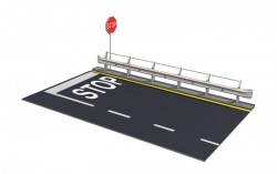 Straßenabschnitt mit Leitplanke - 1:24