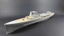 Wooden Deck for 1/350 HMS Belfast 1942 - Trumpeter 05334
