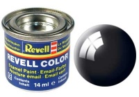 Revell 07 Schwarz RAL 9005 - Glänzend