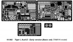 ABER Ätzteileset Tiger I Ausf. E frühe Version (Basis-Set)
