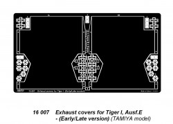 Exhaust covers for Tiger I, Ausf.E - Early/Late version