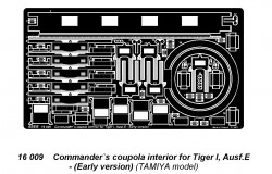 Commander`s coupola interior for Tiger I, Ausf.E - Early version