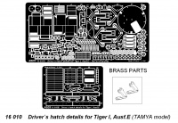 Driver`s hatch details for Tiger I, Ausf.E