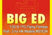 Big Ed PE Parts Set No. 2 for 1/32 B-17G Flying Fortress - HK Models M