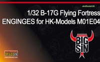 Big Sin Set B-17G Flying Fortress Engines for 1/32 scale HK-Models M01