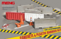 Beton & Plastik Barrieren / Concrete & Plastic Barrier Set - 1:35