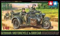 Deutsches Motorrad mit Beiwagen - 1:48