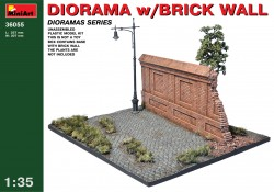 Diorama with Brick Wall - 1/35