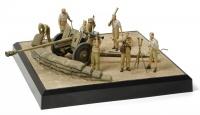 Deutsche 7,62cm Pak36(r) - Afrika Korps Diorama Set - 1:35