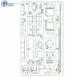 G Parts (G1-G32) for Tamiya Tiger I (56010) 1:16