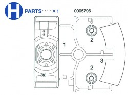 H Parts (H1-H3) for Tamiya Tiger I (56010) 1:16