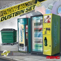 Vending Machine and Dustbin Set - 1/35