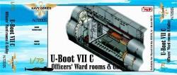U-Boot Typ VII C - Unteroffiziersraum und Kombüse für Revell 05015 - 1:72