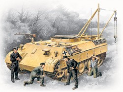 German Bergepanther with Tank Crew - 1/35