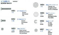 Schraubenbeutel B (MB1-MB7) für Tamiya Tiger I (56010) 1:16